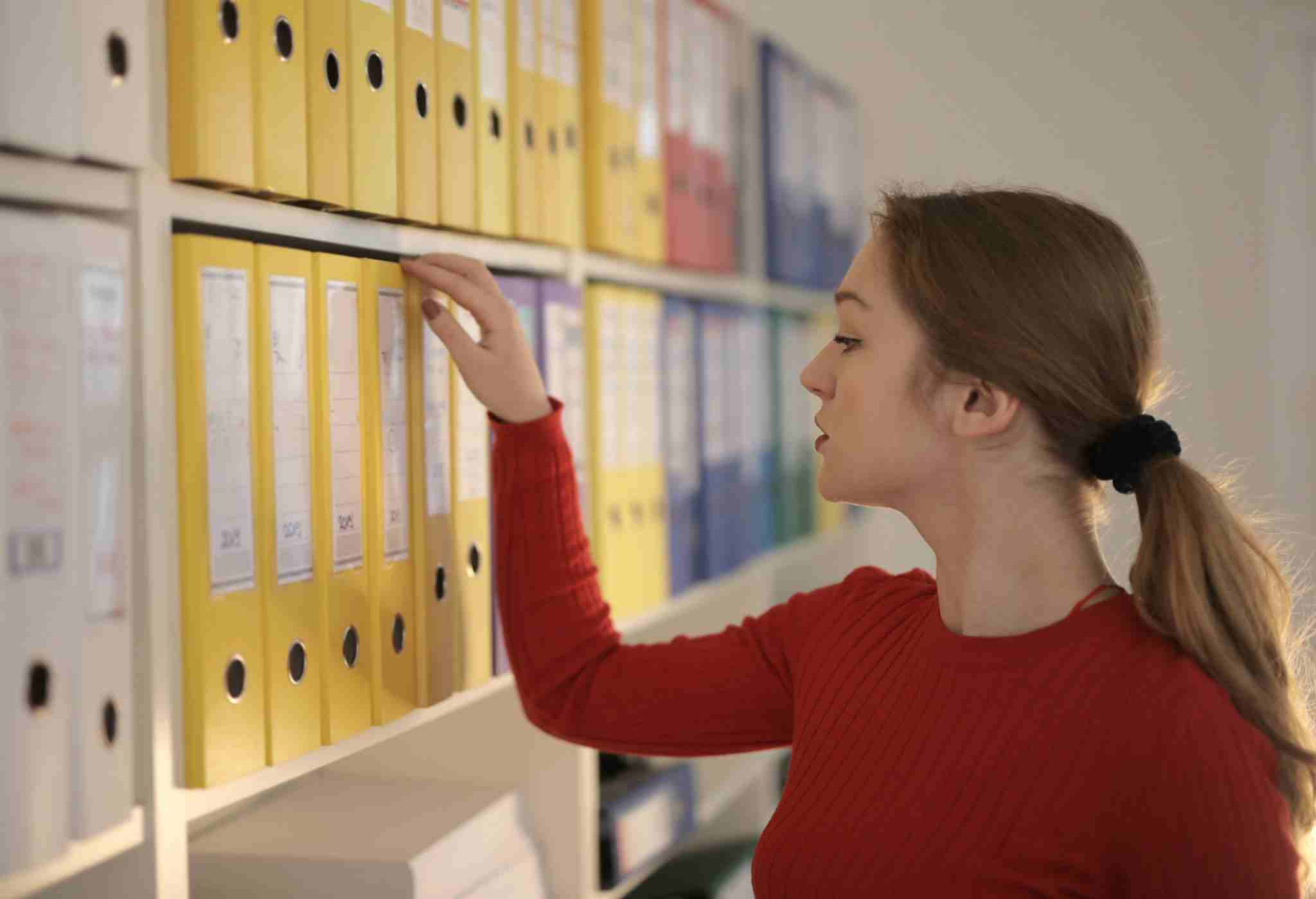 Organizing documents for providing proper access