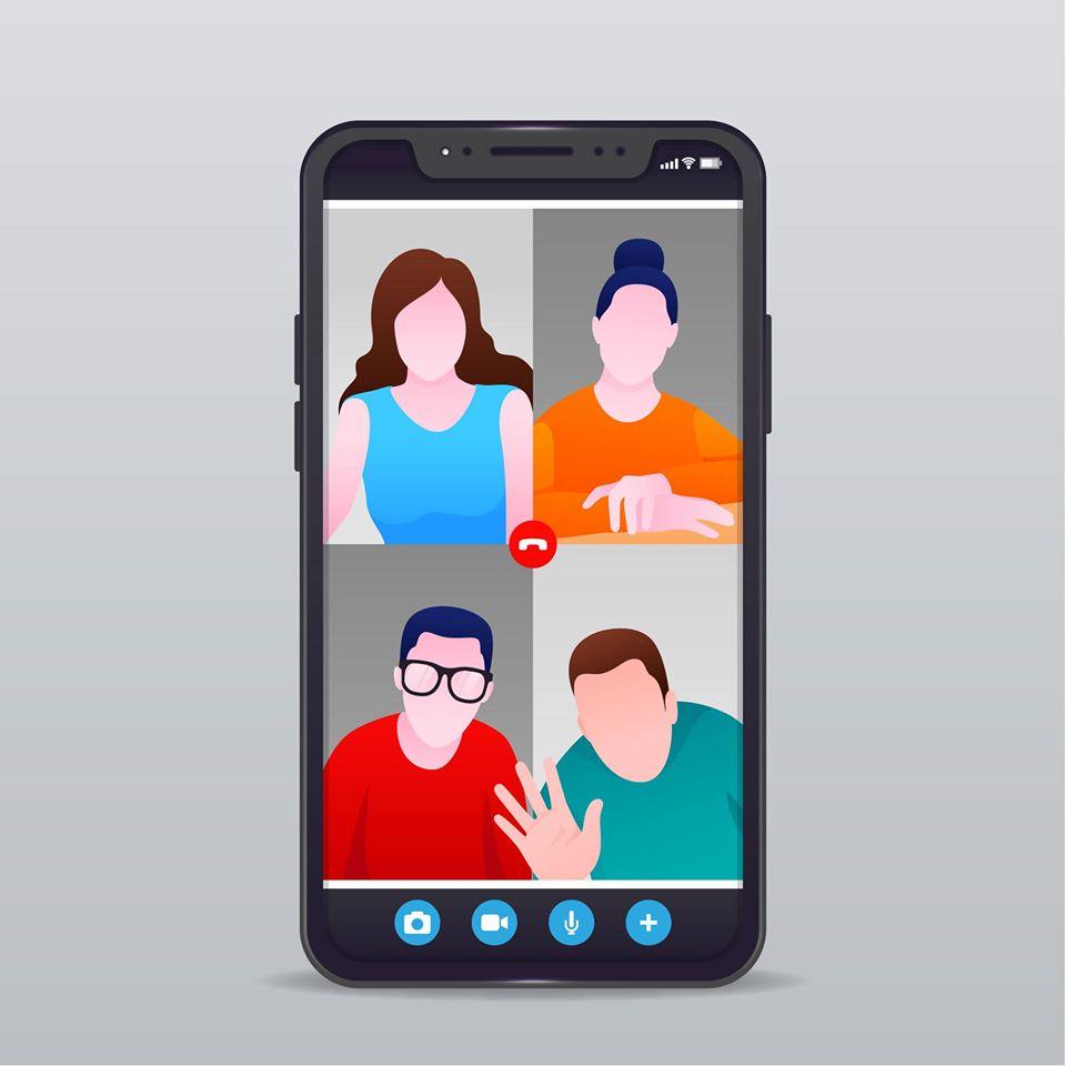 Videoconference on mobile phone