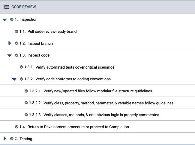 Multilevel Checklist-Based Procedures