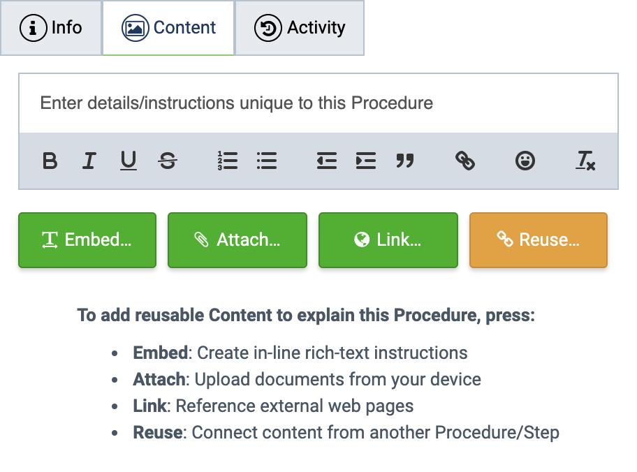 Multimedia Procedure Content
